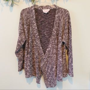 Two by Vince Camuto Open Knit Drape Front Cardigan